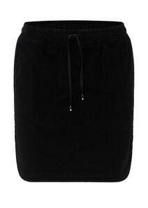 Damen Cord-Rock aus Bio Baumwolle schwarz | Corduroy Skirt - recolution