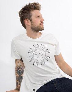 "Bio T-Shirt ""Sonne Mond white"" - Zerum"