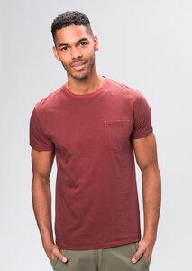Herren T-Shirt aus Bio Baumwolle rot   Casual T-Shirt #POCKET - recolution