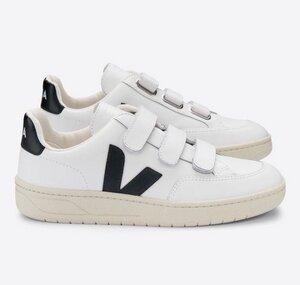 Sneaker Damen - V-Lock Leather - Extra White Black - Veja