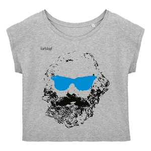 Bedrucktes Damen T-Shirt -lässig- aus Bio-Baumwolle CHILLER - karlskopf