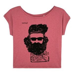 Bedrucktes Damen T-Shirt -lässig- aus Bio-Baumwolle FESTIVAL - karlskopf