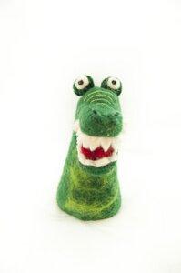 Krokodil als Filz Eierwärmer - short'n'pietz