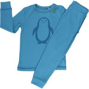 Wollpyjama Pinguin blau - Fred's World by Green Cotton