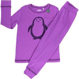 Wollpyjama Pinguin lila - Fred's World by Green Cotton