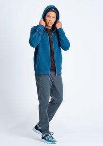 Herren Sweatjacke aus Bio Baumwolle blau | Classic Sweatjacket - recolution