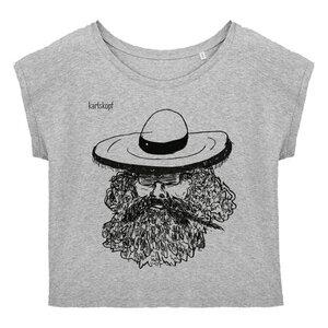 Bedrucktes Damen T-Shirt -lässig- aus Bio-Baumwolle MEXIKANER - karlskopf