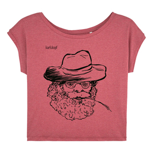 Bedrucktes Damen T-Shirt -lässig- aus Bio-Baumwolle FARMER - karlskopf