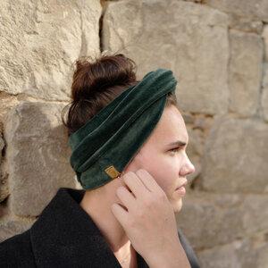 Bio Wickelband, Stirnband aus Baumwoll-Nicki - THE BARDOT - LDP Homemade