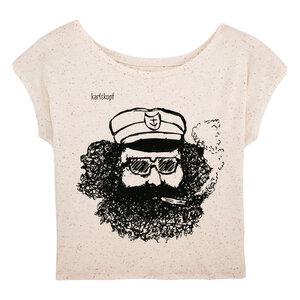 Bedrucktes Damen T-Shirt -lässig- aus Bio-Baumwolle MATROSE - karlskopf