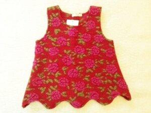 Schurwoll-Top Linsay mit Rosen - Lana naturalwear