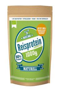 Veganes Reis-Protein-Pulver - bio (80% Eiweiß für Sportler) Low Carb - Maskelmän