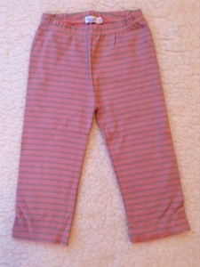 Leggings rosa-mint gestreift - Cotton People Organic