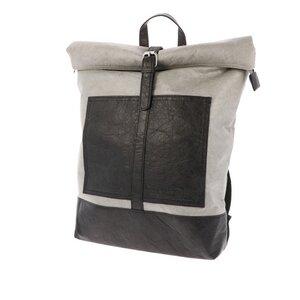Leichter Tyvek©-Rucksack mit Rollverschluss Nikita - schwarz/grau - MoreThanHip