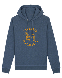 "Unisex Hoodie aus Fairwear Bio-Baumwolle ""Think Big In A Tiny House"" - University of Soul"