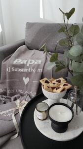 KOLTER Papa Kuscheldecke Wolldecke Wohndecke Decke Bio-Decke Couchdecke aus Bio-Baumwolle - Kolter