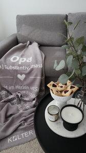 KOLTER Opa Kuscheldecke Wolldecke Wohndecke Decke Bio-Decke Couchdecke aus Bio-Baumwolle - Kolter