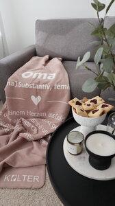 KOLTER Oma Kuscheldecke Wolldecke Wohndecke Decke Bio-Decke Couchdecke aus Bio-Baumwolle - Kolter