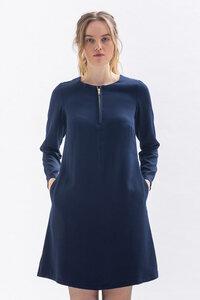 Knielanges Kleid KLA-RA aus Tencel in blau, grün und merlotrot - Studio Hertzberg