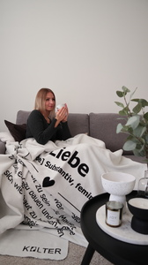 KOLTER Liebe Kuscheldecke Wolldecke Wohndecke Decke Bio-Decke Couchdecke aus Bio-Baumwolle - Kolter
