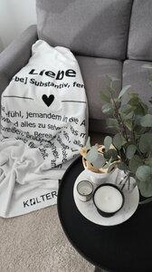 Kuscheldecke aus Bio-Baumwolle Liebe von Kolter - Kolter
