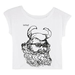 Bedrucktes Damen T-Shirt -lässig- aus Bio-Baumwolle WIKINGER - karlskopf