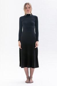 Winterkleid CLE-O mit Stehkragen und langen Schlitzen aus Bio Baumwolle - Studio Hertzberg