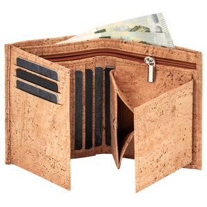 Premium-Herrengeldbörse aus Kork mit Wiener Schachtel & RFID-Schutz - Simaru