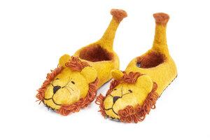 Hausschuhe Löwe handgefilzt für Kinder - short'n'pietz