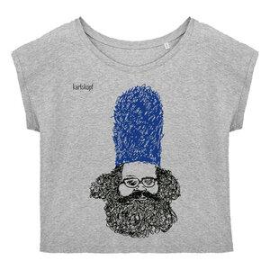 Bedrucktes Damen T-Shirt -lässig- aus Bio-Baumwolle BEWACHER - karlskopf
