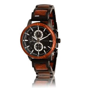 Armbanduhr aus Holz | Herren GOVERNOR Sandelholz | 44 mm | handgemacht - HOT&TOT