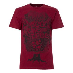 ThokkThok Seedthetrees T-Shirt black/ruby - THOKKTHOKK
