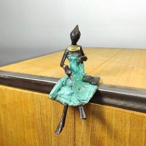 "Bronze-Skulptur ""Femme assise "" by Patrice Balma verschiedene Motive Unikate 10-15 cm - Moogoo Creative Africa"