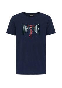 Print T-Shirt #NIGHTRIDER aus Bio Baumwolle schwarz   Casual T-Shirt #NIGHTRIDER - recolution