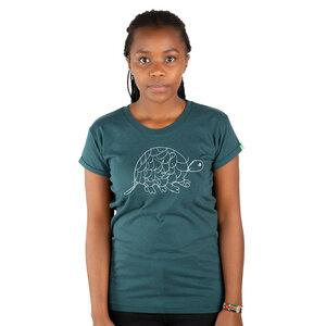 "Damen T-Shirt aus Bio-Baumwolle ""Tortoise"" Dunkelgrün - Kipepeo-Clothing"