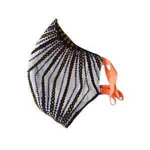 Mund und Nasenmaske für Erwachsene. Handmade in Kenya. V.7 - Kipepeo-Clothing