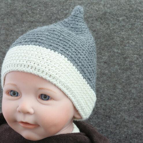 Tuchmacherin Handgewebtes Design Filz Baby Häkelmütze