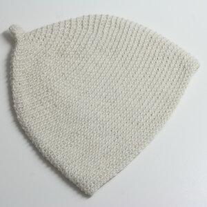 Baby-Häkelmütze Zipfelmütze von tuchmacherin wollweiß - tuchmacherin - handgewebtes design + filz