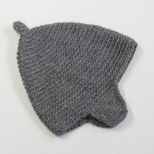 Baby-Häkelmütze Zipfelmütze von tuchmacherin grau - tuchmacherin - handgewebtes design + filz
