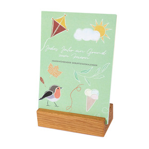 Geburtstagskalender mit Karten - klotzaufklotz