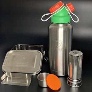 Limitierte Weihnachts-Edition zum Sonderpreis: JuNiki´s® Edelstahl Lunchbox + Trinkflasche isoliert 1 Liter mit Teefilter - JN JuNiki's