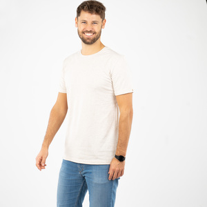 "T-Shirt Herren - upc. Baumwolle + rec. Polyester ""Terro Natural"" beige - Vresh Clothing"