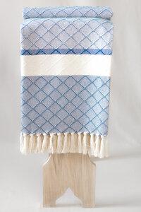 Plaid aus Bio-Baumwolle von Hand gewebt - BAGHI
