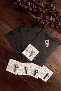 Geschenkset - 5x Postkarten & Sorgenpüppchen, handgefertigt in Lateinamerika - Nata Y Limón