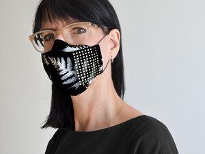 Edle Gesichtsmaske zum Ausgehen mit Farn - renna deluxe