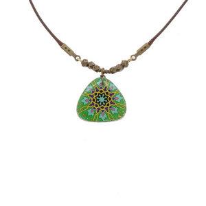 Halskette mit handgemachter farbiger Mosaikfliese - Yasmin - Papital