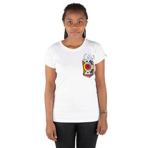 "Damen T-Shirt aus Bio-Baumwolle mit Brusttasche ""NYANI"" Made in Kenya - Kipepeo-Clothing"