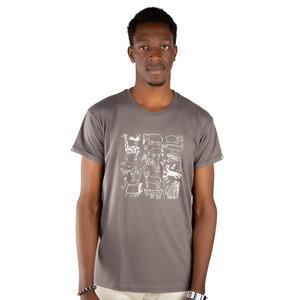 """Herren Print T-Shirt aus Bio-Baumwolle """"Serengeti"""" - Kipepeo-Clothing"""