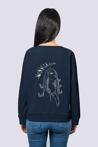 Göttin des Meeres, Frauen Premium Pullover, Sweatshirt aus Bio Baumwolle Wal Print - vis wear