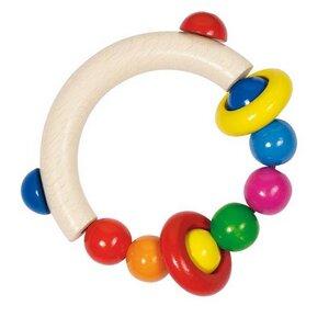 Greifling halbrund mit Perlen und 2 Ringen - Heimess